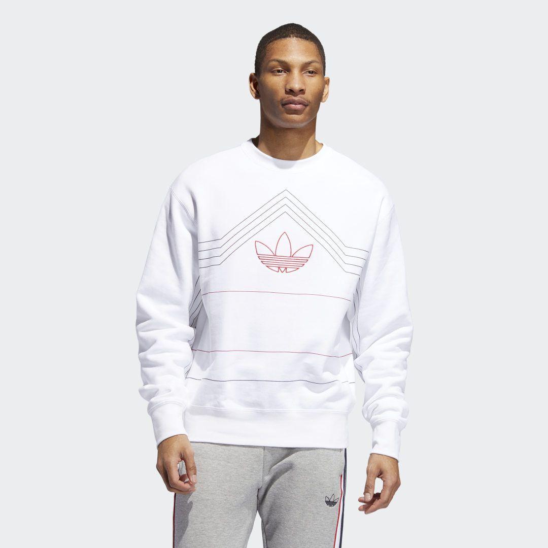 Adidas Rivalry Crewneck Sweatshirt White Adidas Us Mens Sweatshirts Sweatshirts Adidas Hoodie Mens [ 1080 x 1080 Pixel ]