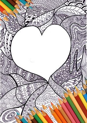 Paper Party Supplies Greeting Cards Love Card Printable Download Digital Zentangle