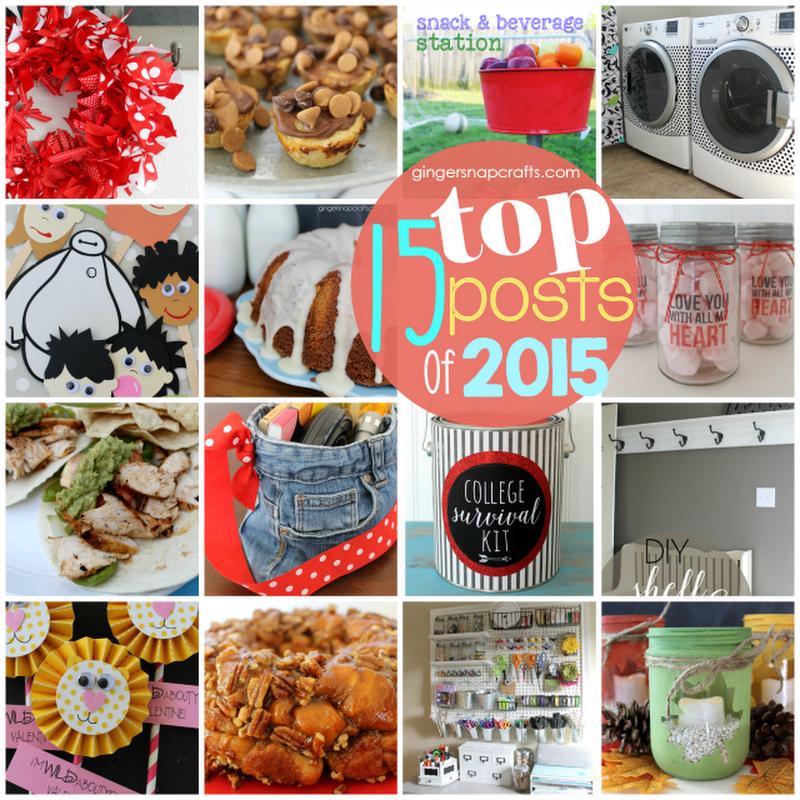 Top 15 Post of 2015 #bestof2015 #topposts GingerSnapCrafts.com