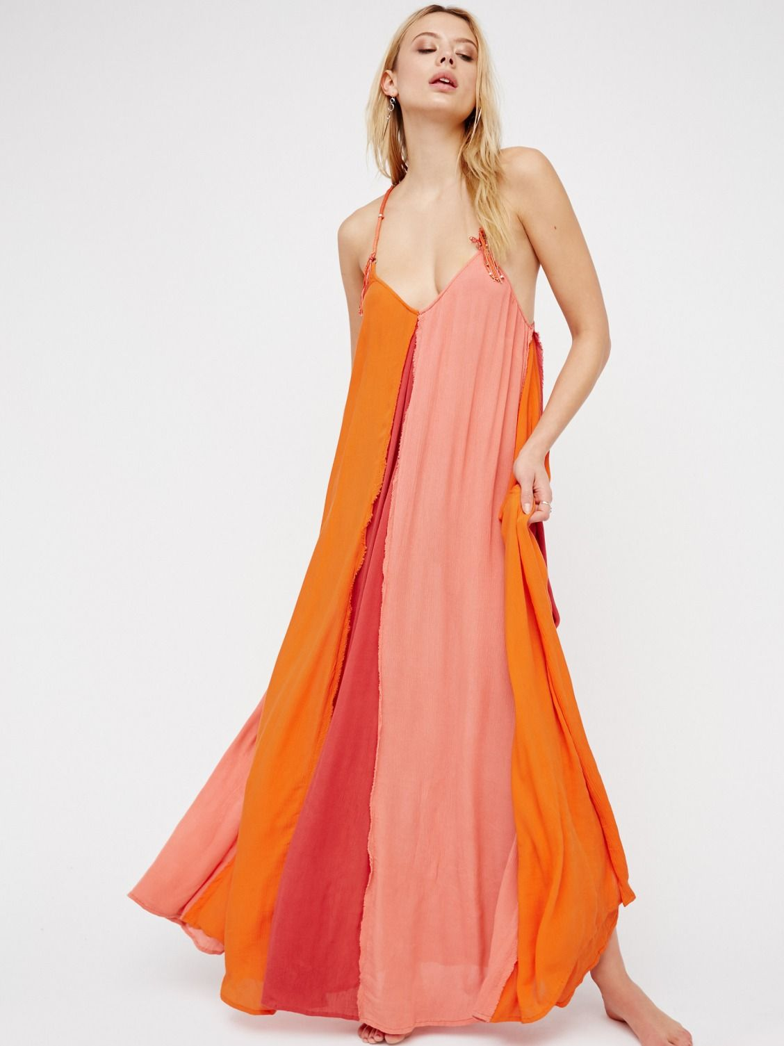 2faab944e6f Endless Summer Tango Pink Combo Mixin  It Up Maxi Dress at Free People  Clothing Boutique