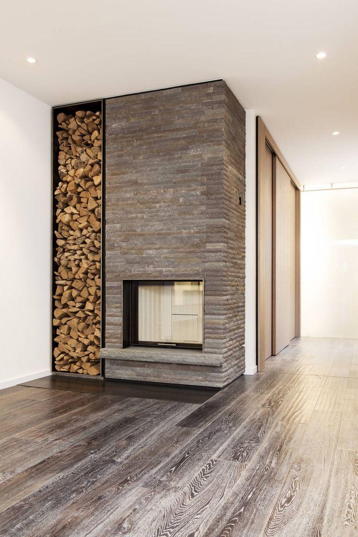 Wohnzimmer mit Kamin #kamin  Sala com lareira, Design da lareira