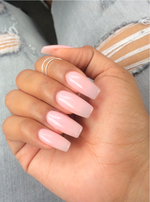 Untitled Via Tumblr Pink Acrylic Nails Light Pink Acrylic Nails Long Acrylic Nails
