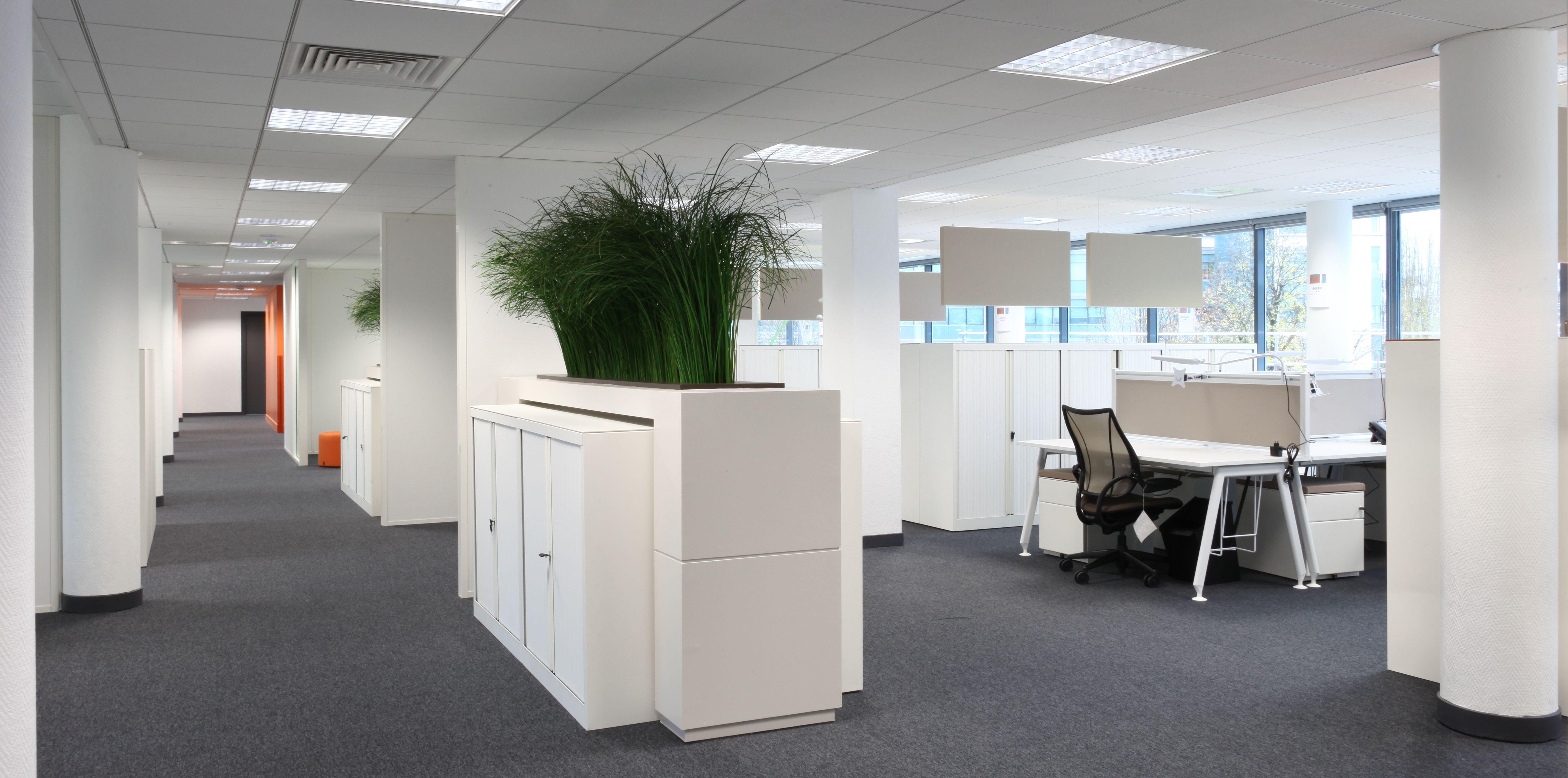 open space agenc par cl ram style design bureau architecture am nagement workspace. Black Bedroom Furniture Sets. Home Design Ideas