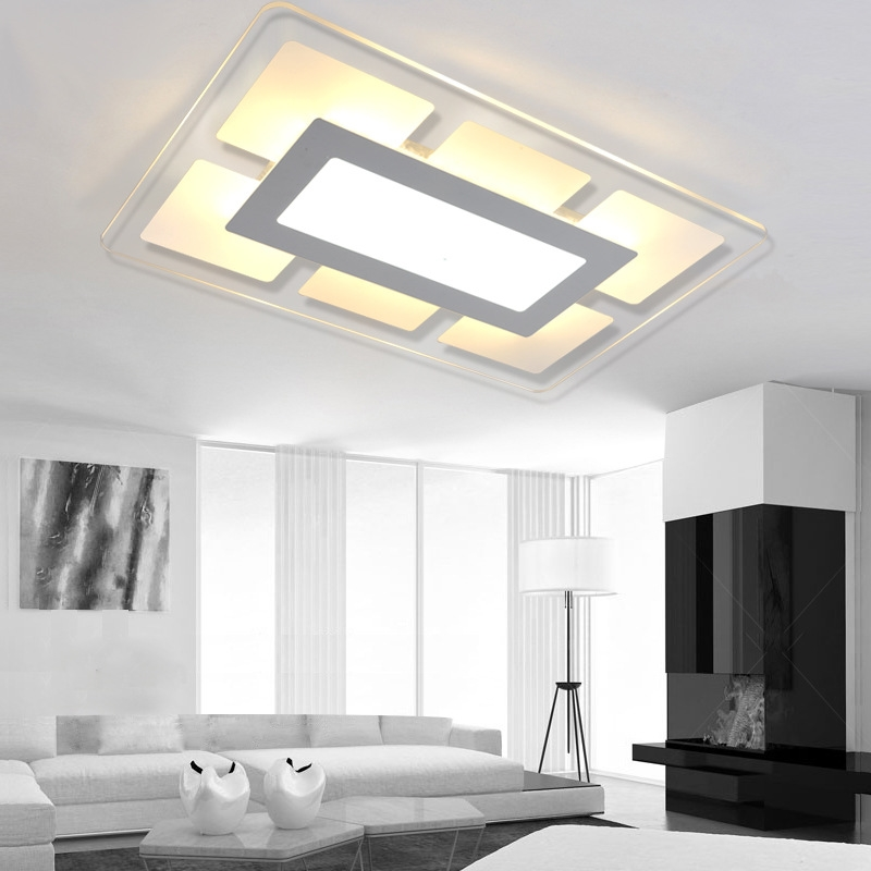 99.00$  Buy now - http://ali3ay.worldwells.pw/go.php?t=32703268057 - Free shipping  Slim led square ceiling lamp living room / bedroom modern minimalist stylish restaurant study lamp