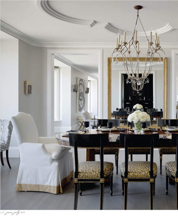 Glamorous Dining Rooms: What An Elegant Ceiling! I Love The Black Napoleonic Side