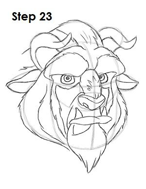 How To Draw The Beast Beauty And The Beast Drawing Cartoon