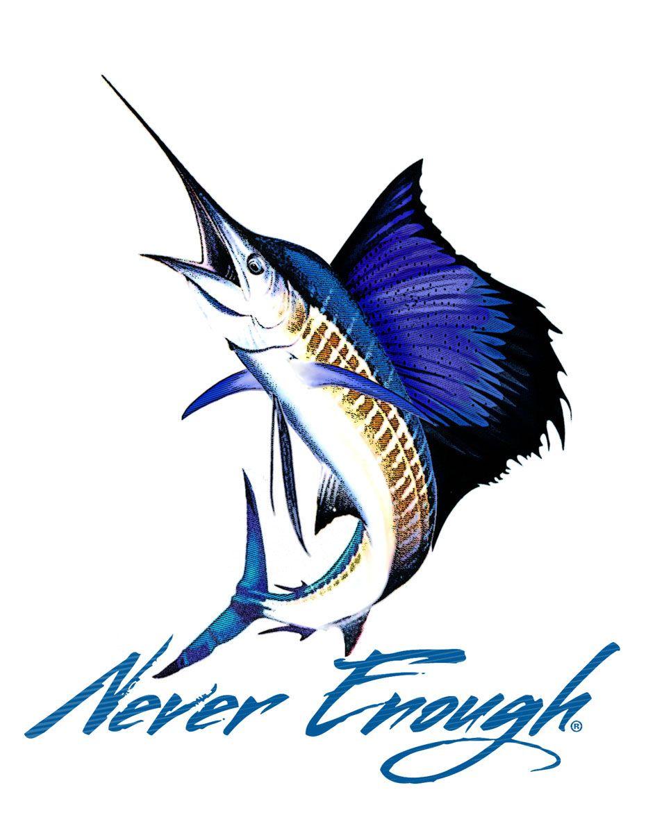 Never Enough Sailfish Sticker Fish Art Fish Painting Underwater Creatures