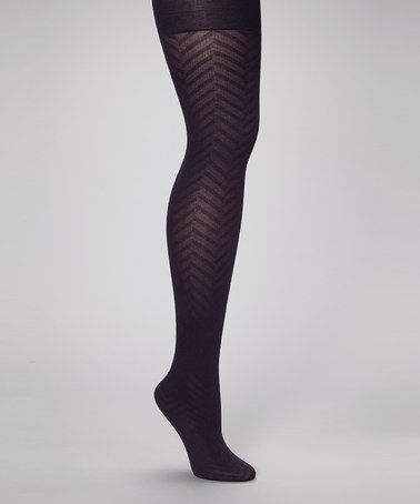 Take a look at this Plum Chevron Shaper Tights - Women by Sculptz on #zulily today!