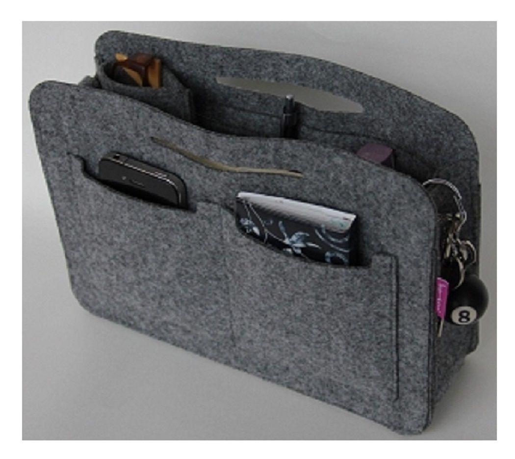 Taschenorganizer Filz Grau | Taschen | Handtaschen organizer