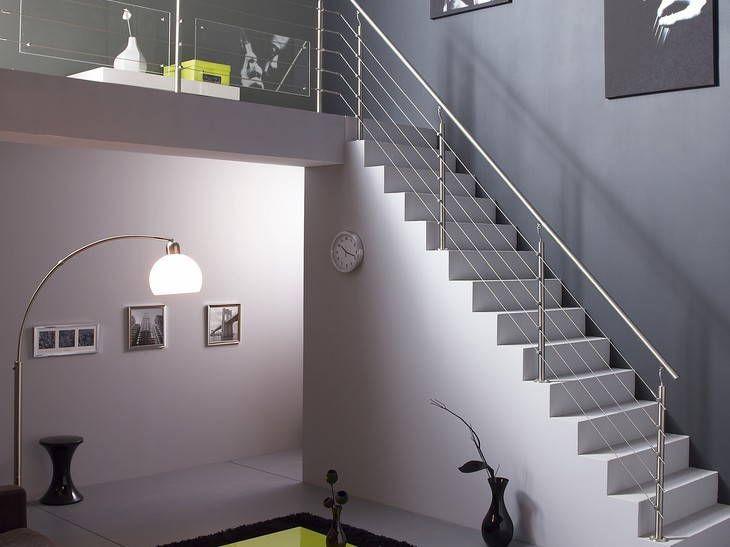 Escalier contemporain en béton ciré (Leroy Merlin) - Un escalier ...