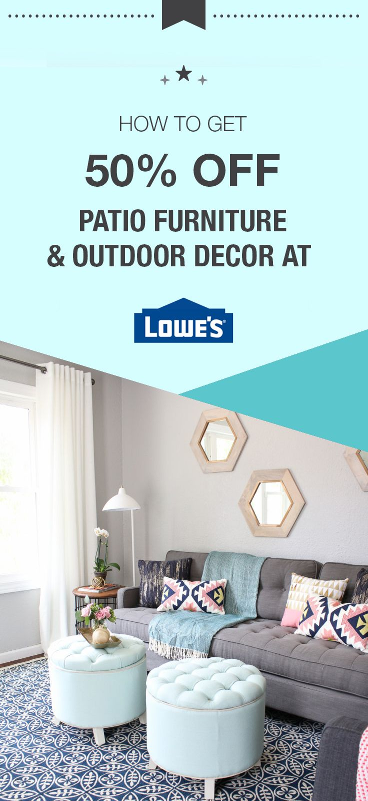 Living Room 50 Off up to 50% off select patio furniture & outdoor decor clearance