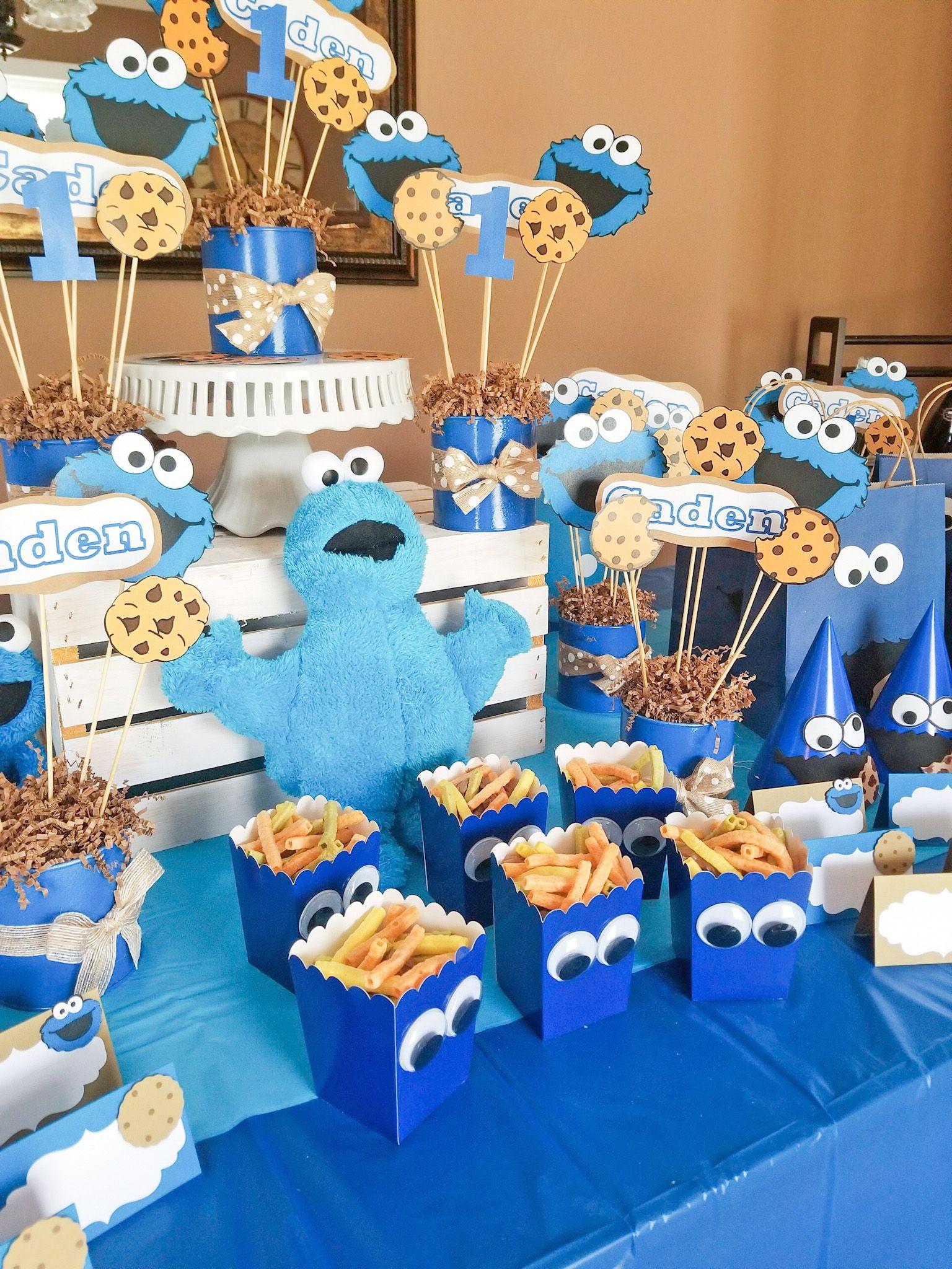 DIY Cookie Monster Party | Cookie monster party, Birthday ...