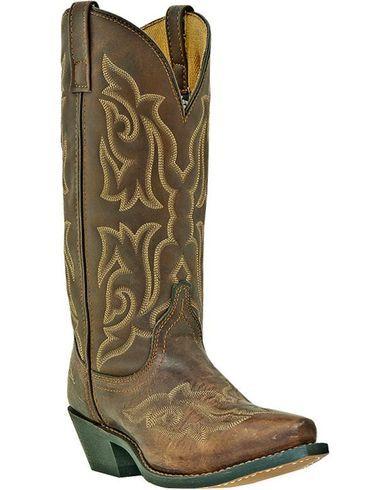 3b2fb17b29d Laredo Stitched Vamp and Shaft Cowgirl Boots - Snip Toe   Fashion ...