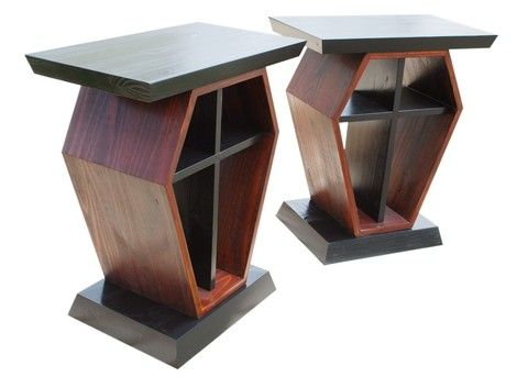 we could duplicate these with plywood scraps u0026 do a faux marble top make for night stands or corner tables