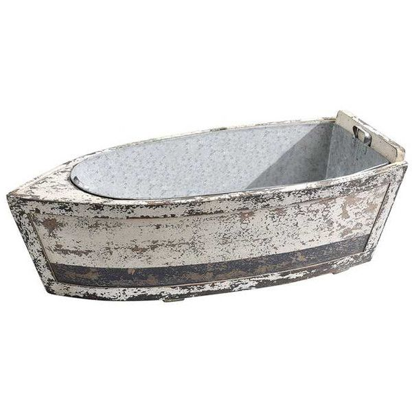 Dot & Bo Let's Get Nautical Wooden Boat Décor (€230) ❤ liked on Polyvore featuring home, home decor, nautical, nautical theme centerpieces, nautical theme home decor, nautical home accessories, succulent centerpieces and nautical home decor