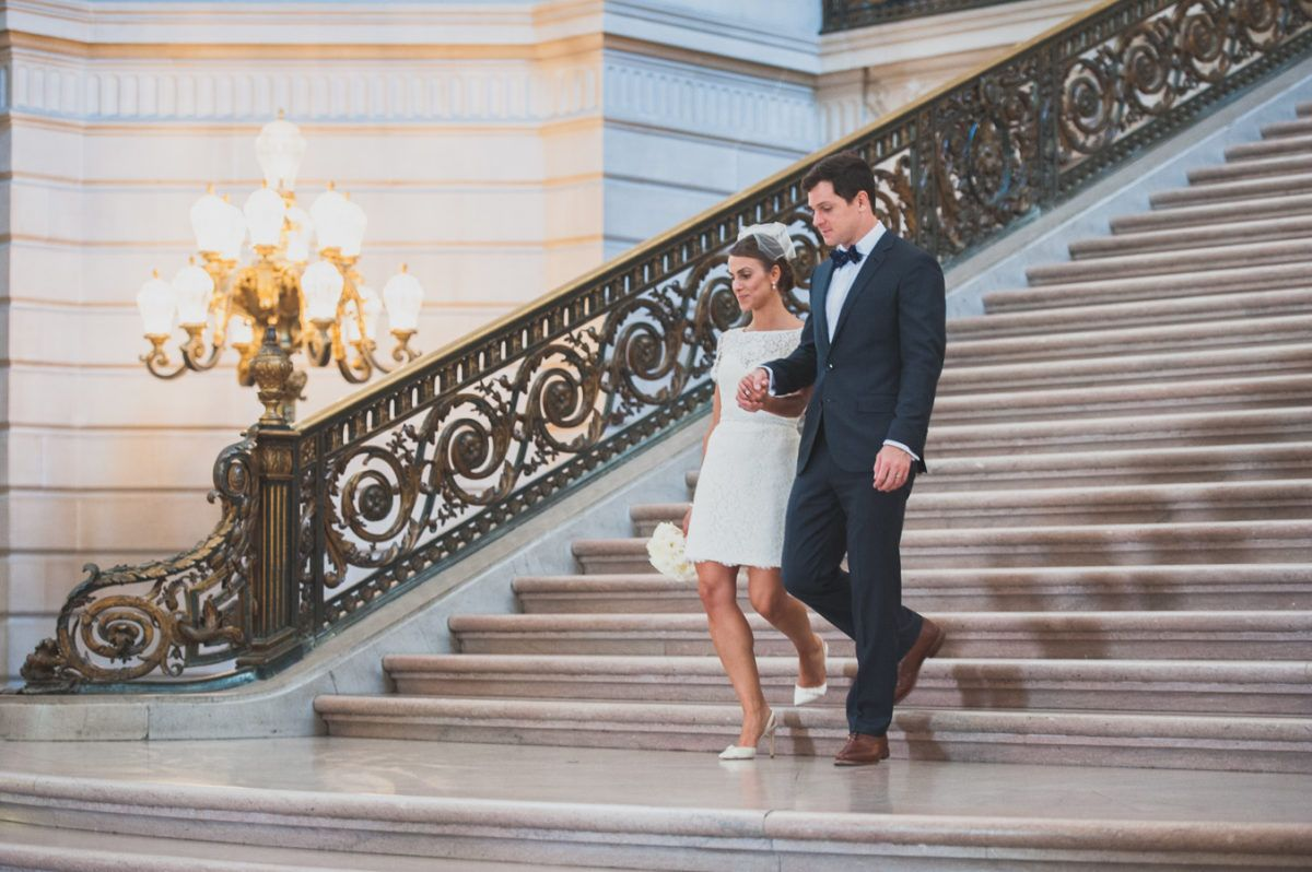 Romantic wedding at san francisco city hall in 2020 with