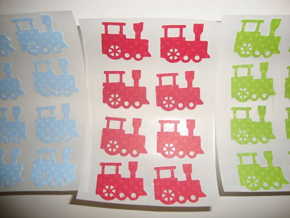 60 blue red and green train stickers Thomas the by jessicasue34, $8.99