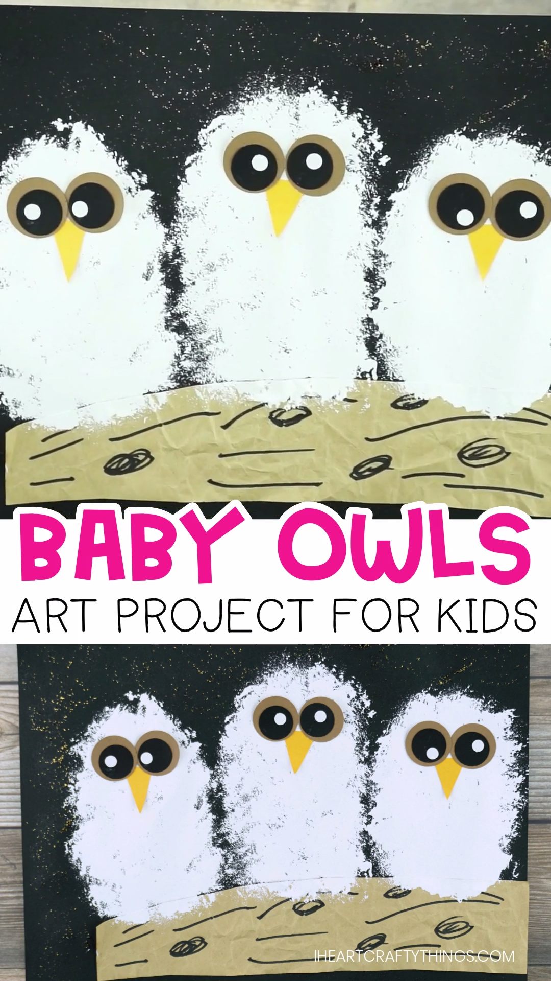 Baby Owls Art Project for Kids #fallcraftsforkidspreschool