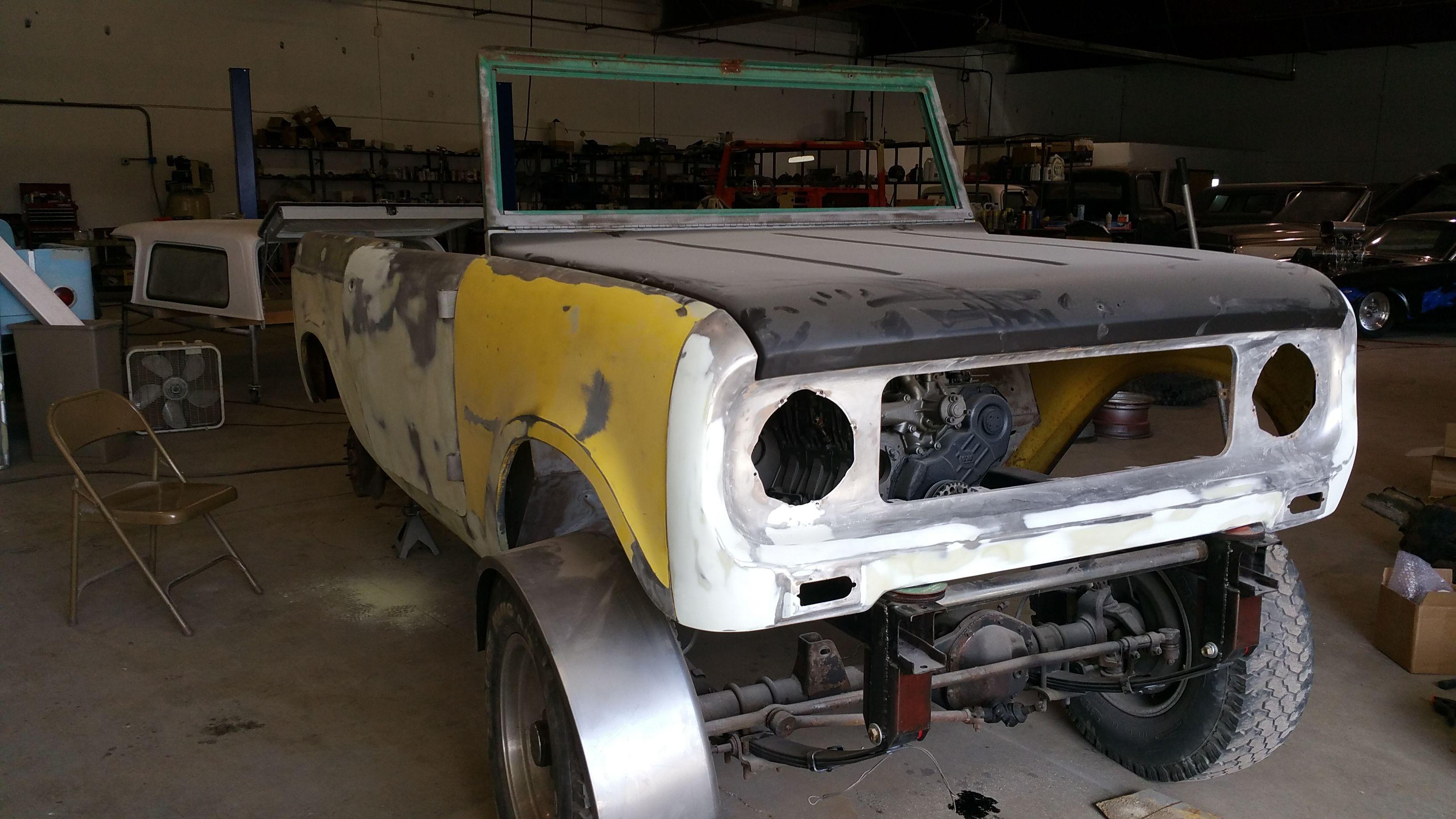 1966 IH Scout 80 Turbo Diesel fab work. Had to mock up