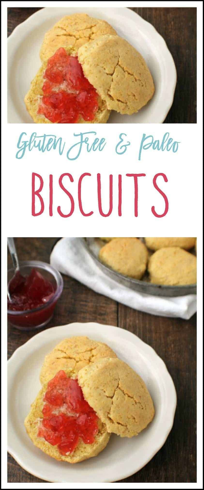 These gluten free and Paleo Biscuits are soft, flakey, and