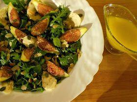 Salada De Figos Com Rúcula E Mozzarella