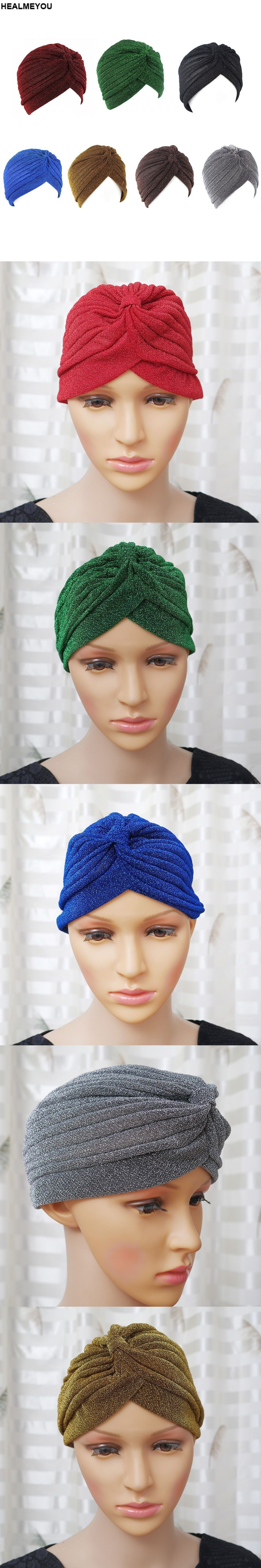 b655d9bd70c Men Women Stretchable Soft Indian Style Turban Hat Head Wrap Band Cap 7  Colors