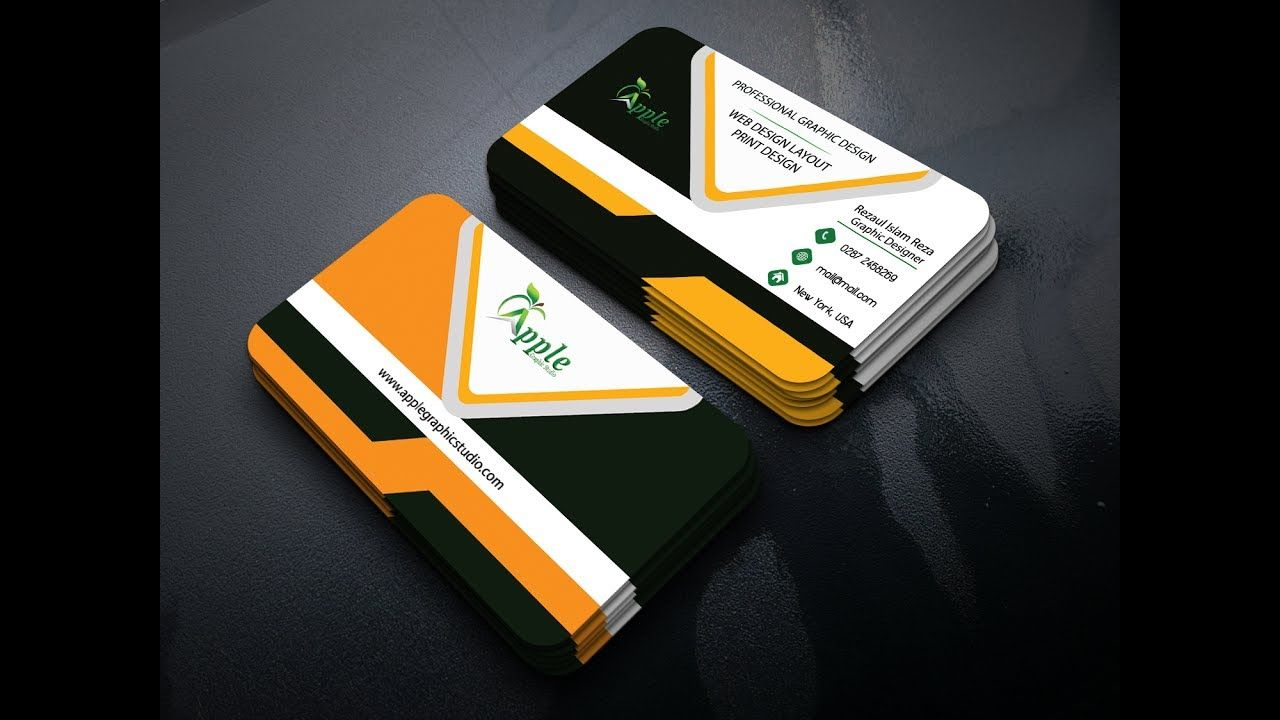 How to Make a Corporate Business Card Design For Graphicriver ...