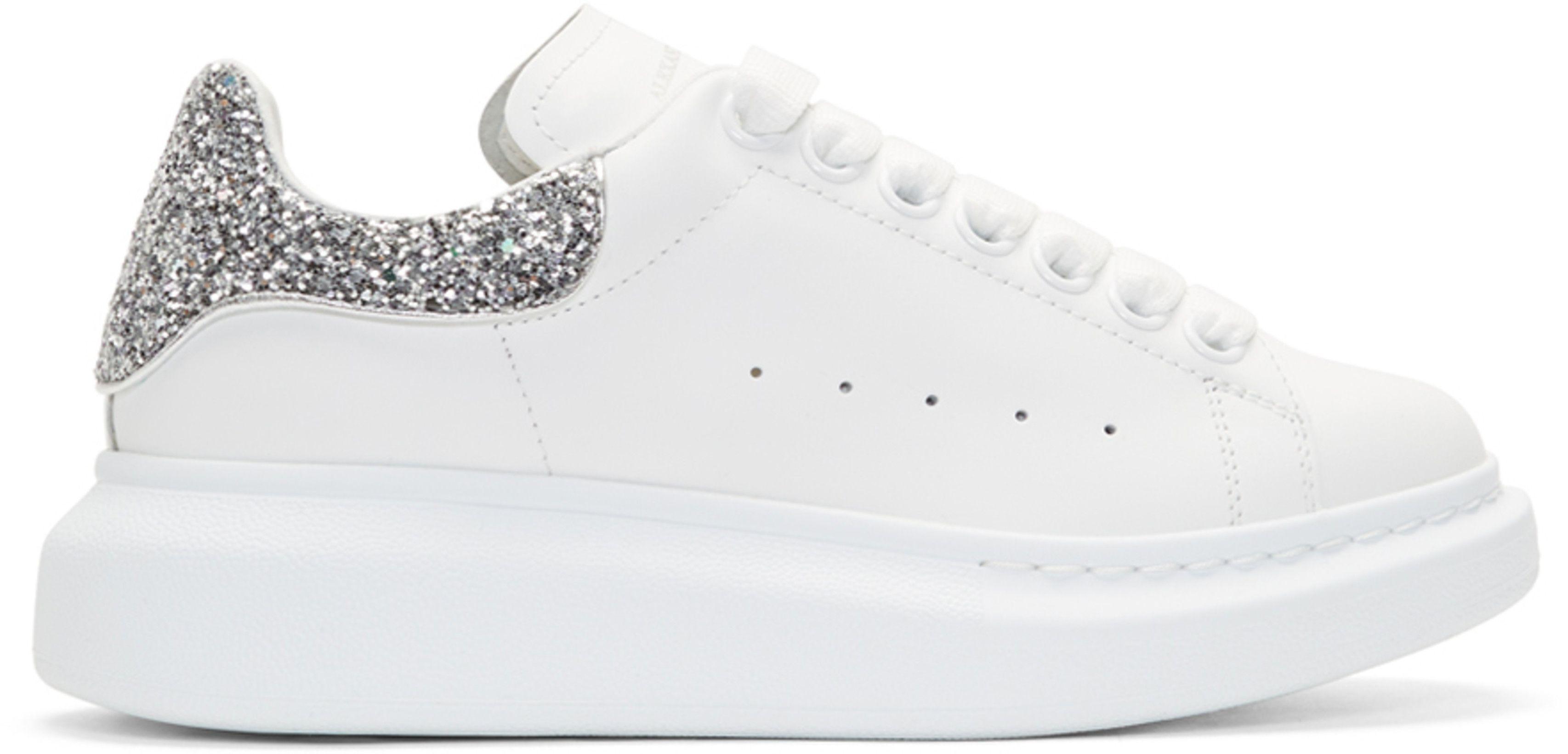 womens white glitter trainers