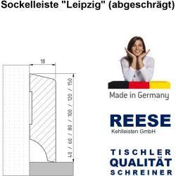 Sockelleiste Leipzig Eiche Massivholz Roh Oben Abgeschrägt [sparpaket]