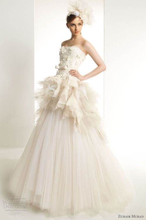 Zuhair-murad-2013-bridal-kaolin-wedding-dress-strapless-ball-gown ...