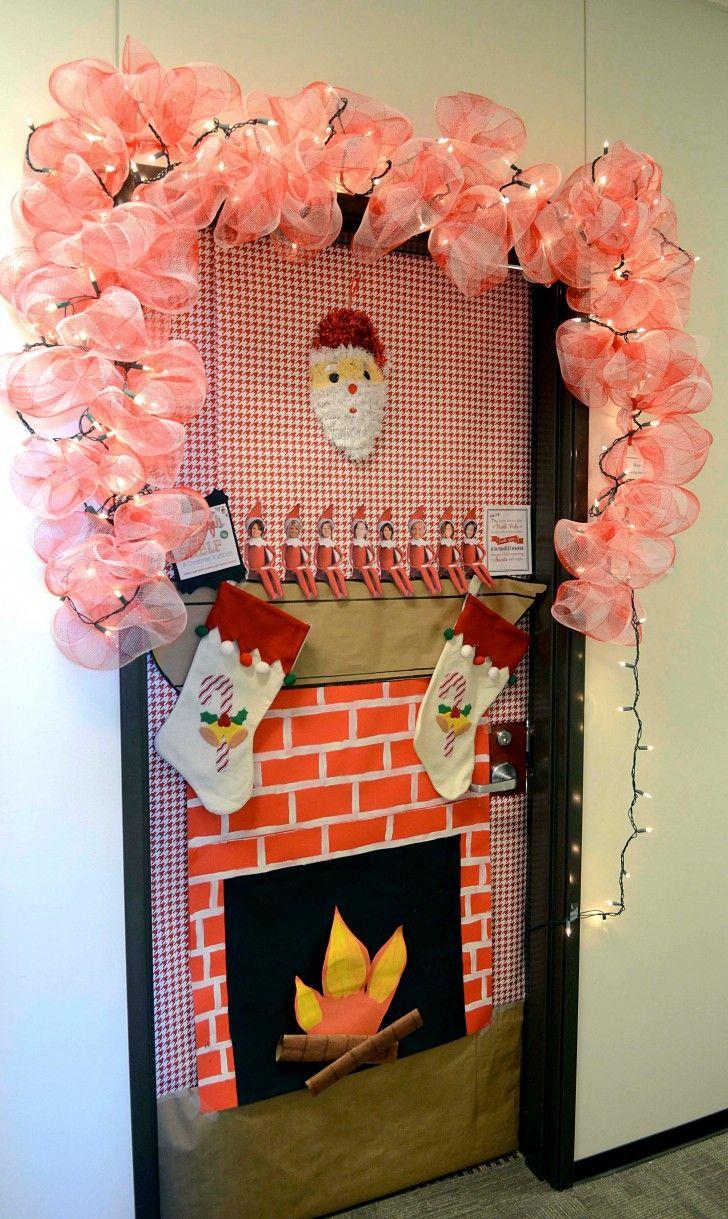 Creative Christmas Door Decorating Ideas Office