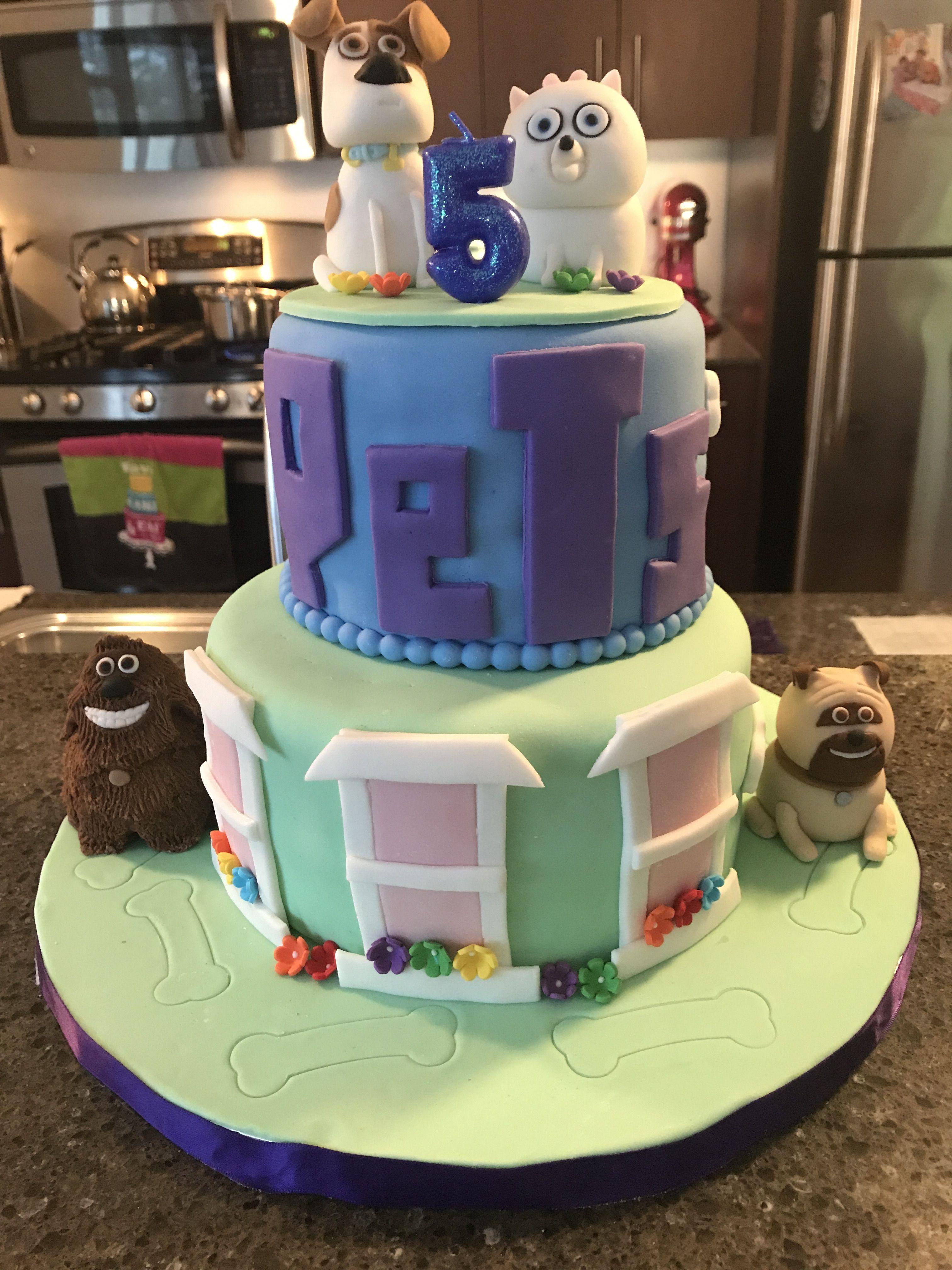 Secret Life Of Pets Cake Teddy Cakes Movie Cupcakes Kids Cake