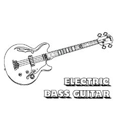 Top 25 Free Printable Guitar Coloring Pages Online Bass Guitar Guitar Coloring Pages