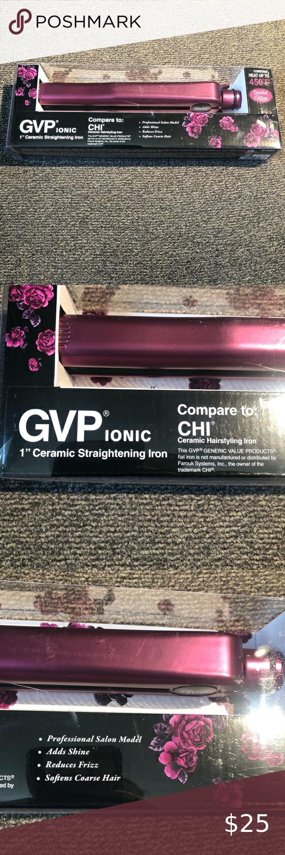Gvp 1 Ceramic Straightening Iron Brand New In 2020 Straighten Iron Ceramics Iron