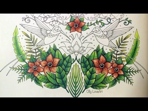 How To Color The Leaves From Lost Ocean Oceano Perdido Youtube Johanna Basford Coloring Book Coloring Books Jungle Coloring Pages