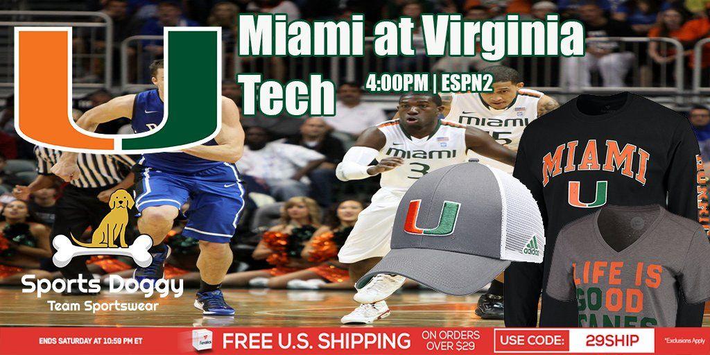 Reminder Miami at Virginia Tech 400PM ESPN2.