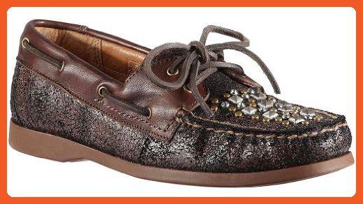 dad2da16a22c6 Ariat Women's Rockin' Gypsy Boat Shoes,Brown,11 B - Athletic shoes ...