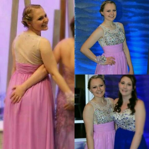 Floor Length Prom Dress Lilac floor length dress with beading on the front and back, worn once. Wanting 150 obo Dresses Prom