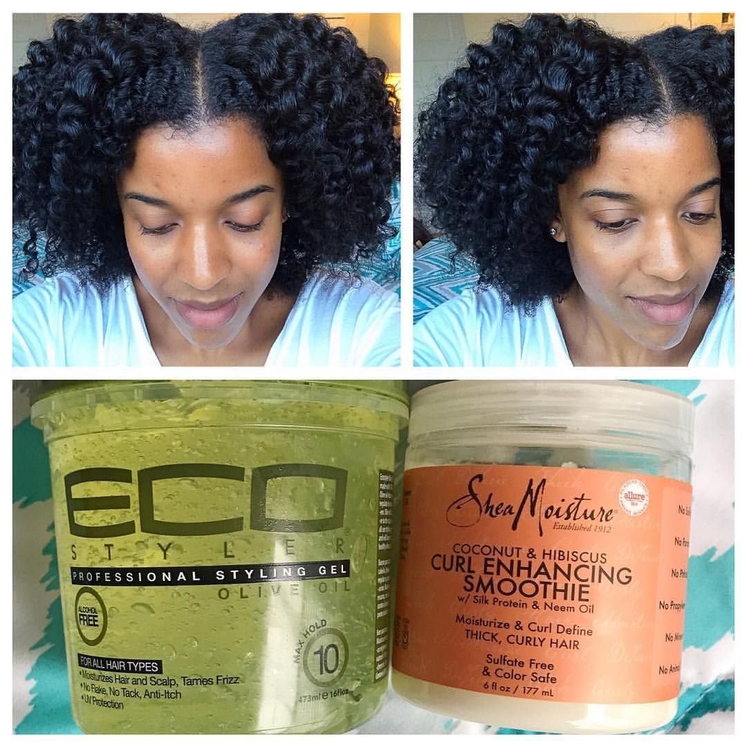 Twist Out Using Shae Moisture Curl Enhancing Smoothie And Eco Styler Gel Hair Curl Products Braid Out Natural Hair Curl Enhancing Smoothie