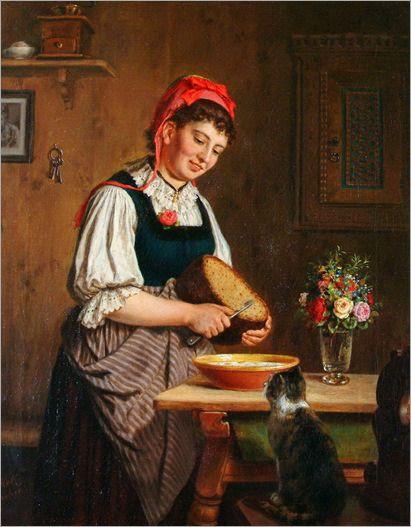 Carl Hetz (German, 1828 to 1899) - Preparing the meal