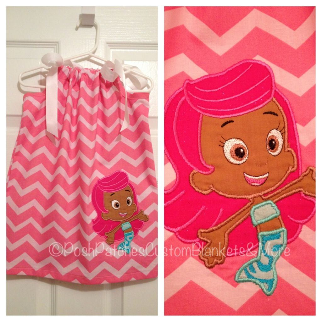 Bubble Guppies Molly Pillowcase Dress by Posh Patches www.facebook ...
