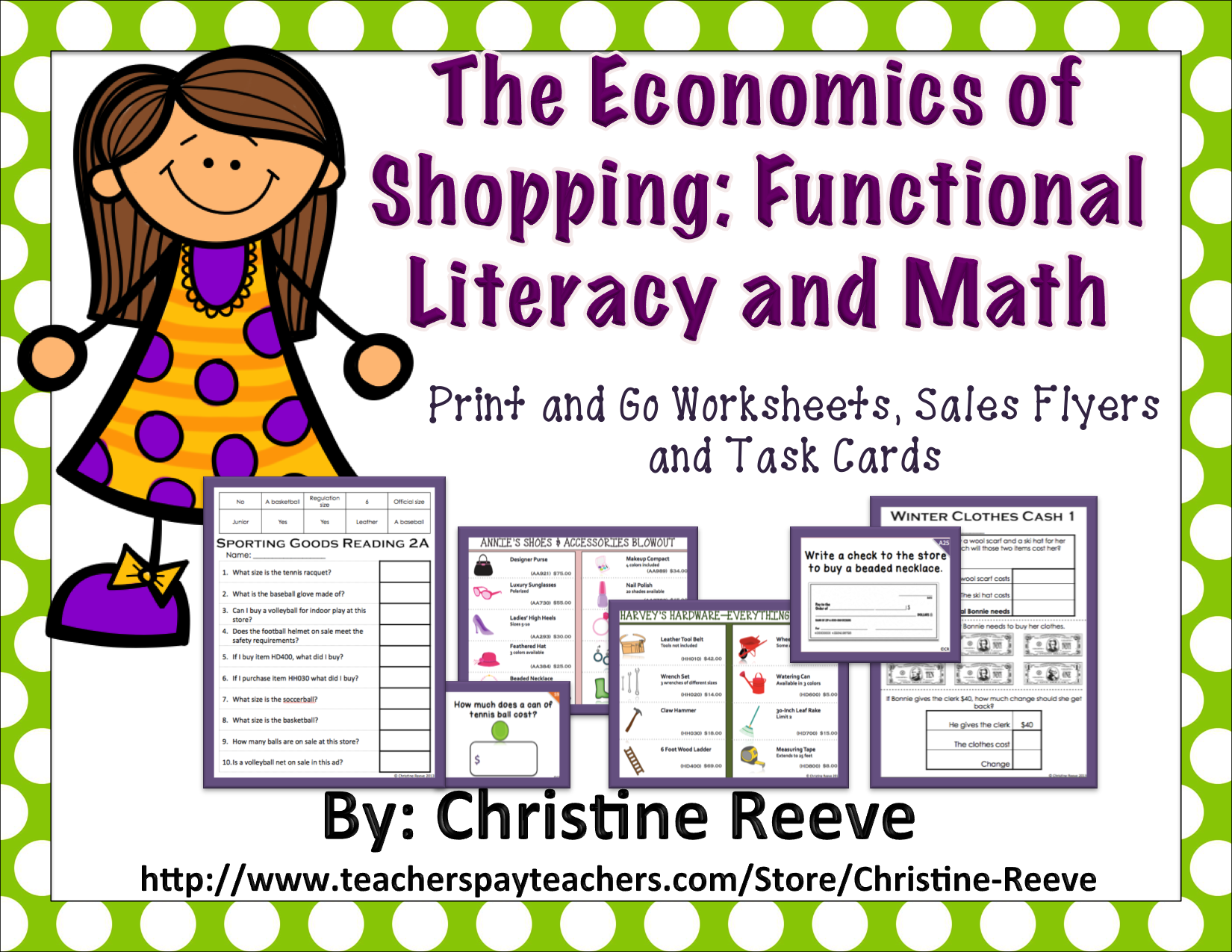 Economics Of Shopping Functional Literacy And Math Bundle