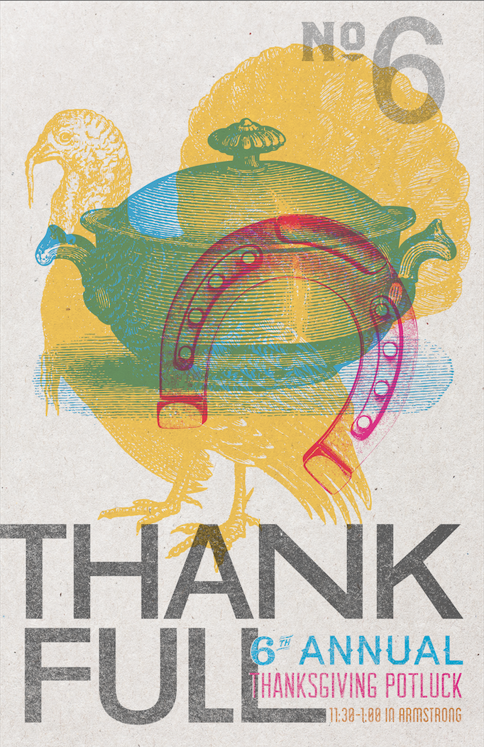 Our 6th annual company Thanksgiving Potluck poster