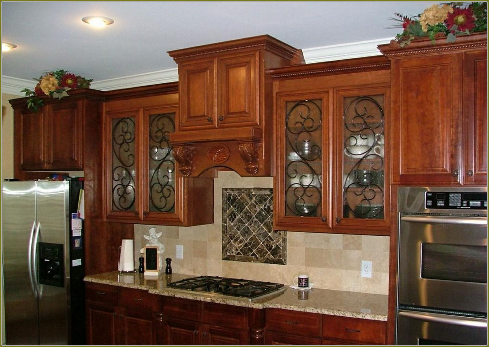 77 Wrought Iron Cabinet Doors Kitchen Cabinets Update Ideas A