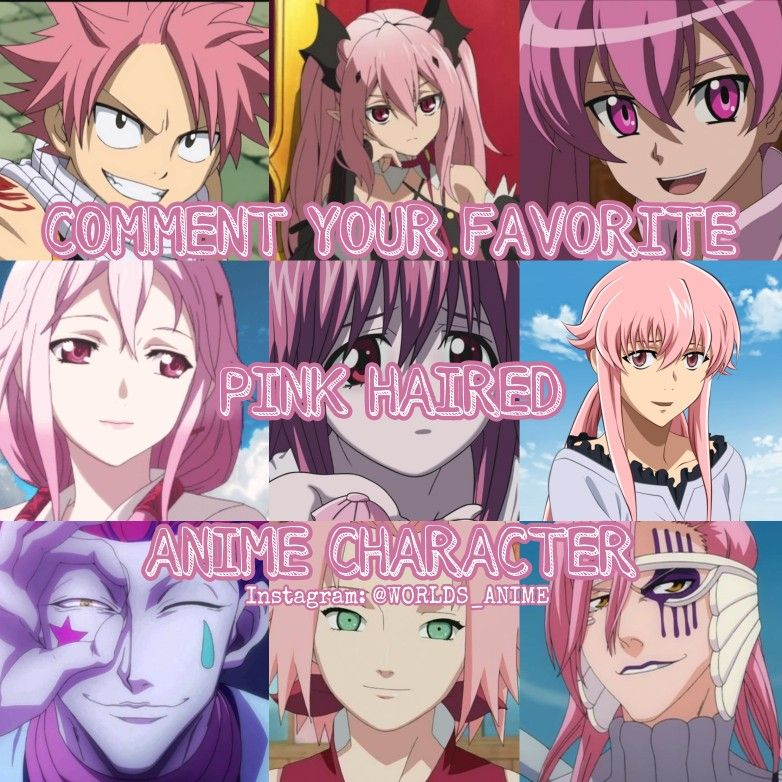 Favorite Pink Haired Anime Character Anime Anime Characters Anime Guys