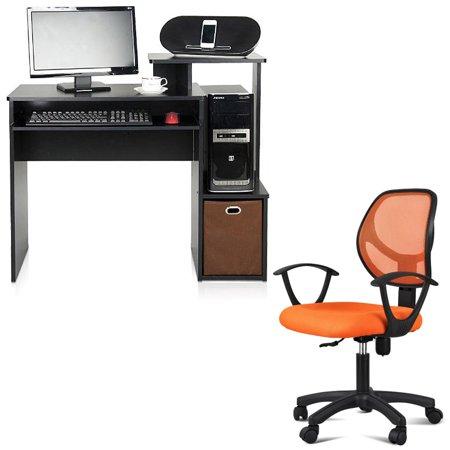 desk and chair set furinno 12095bk br econ multipurpose home office rh pinterest com