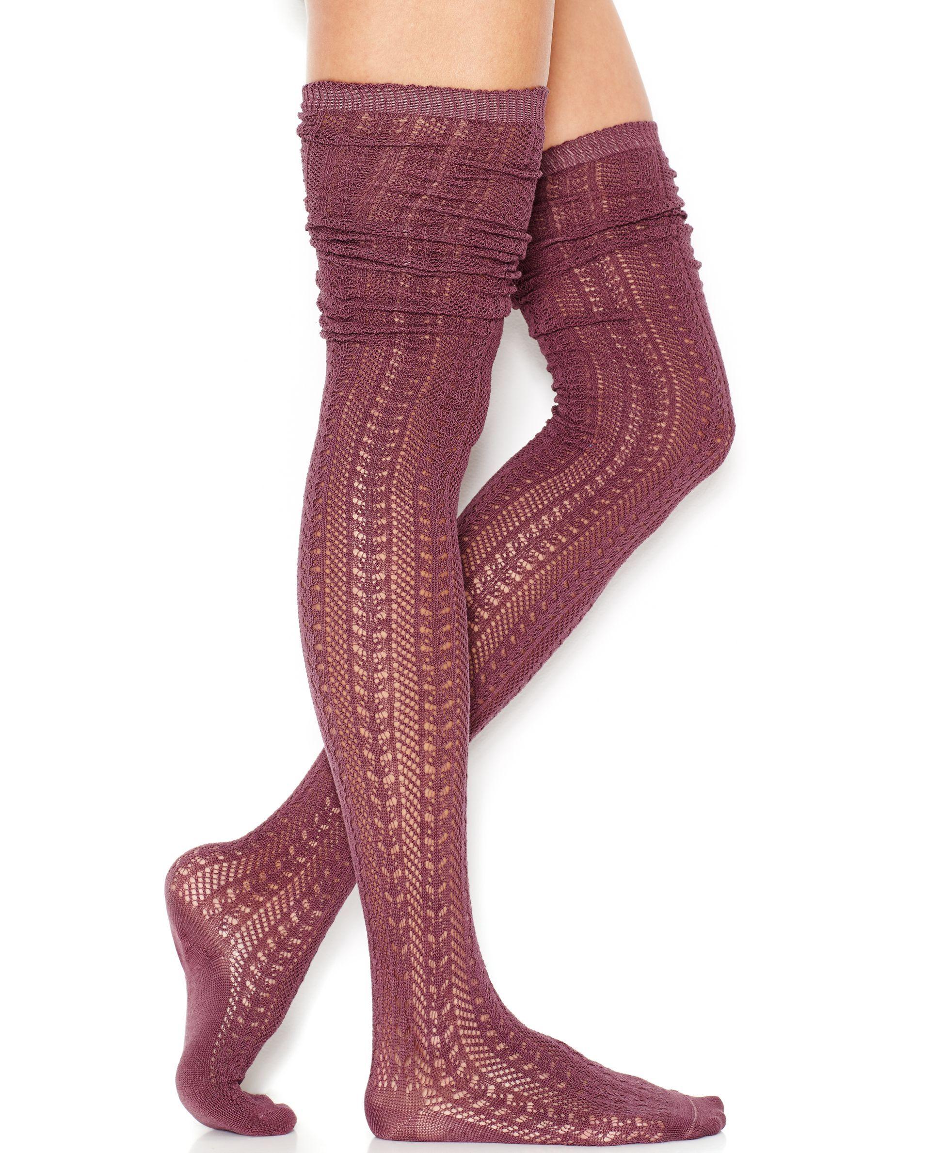 3b78047f5e0 Free People Hammock Thigh-High Knit Socks - Free People - Women - Macy s