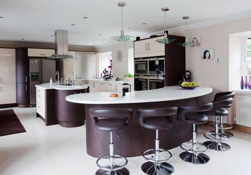 Stunning Curved Country Kitchen Curved Kitchen Contemporary