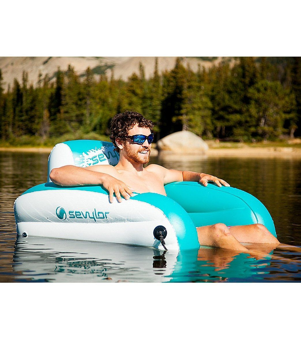 Outstanding Coleman Inflatable Lake Water Lounge Chair At Swimoutlet Com Unemploymentrelief Wooden Chair Designs For Living Room Unemploymentrelieforg