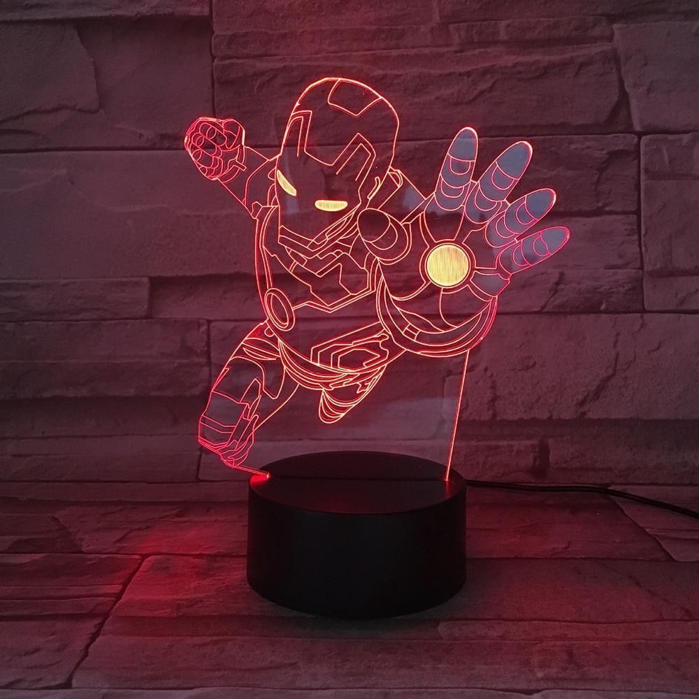 3d Iron Man Lamp 3d Lamp 3d Illusion Lamp Led Night Light